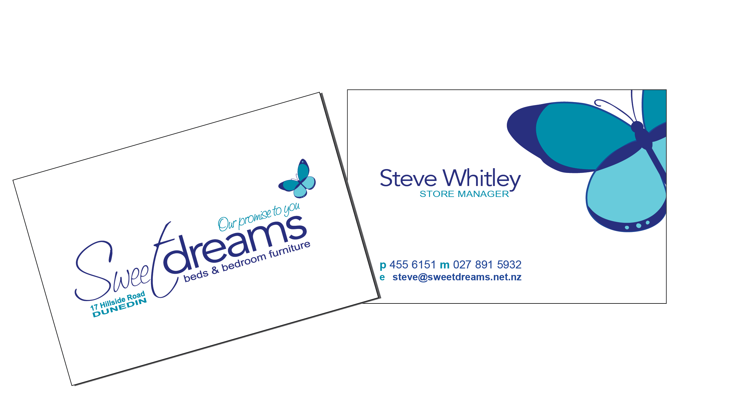Business card logo design jensen design graphics ltd sweetdreamsbusinesscards reheart Choice Image